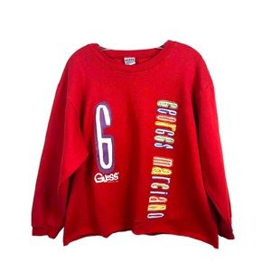 Guess Georges Marciano Vtg 1989 Cropped Sweatshirt